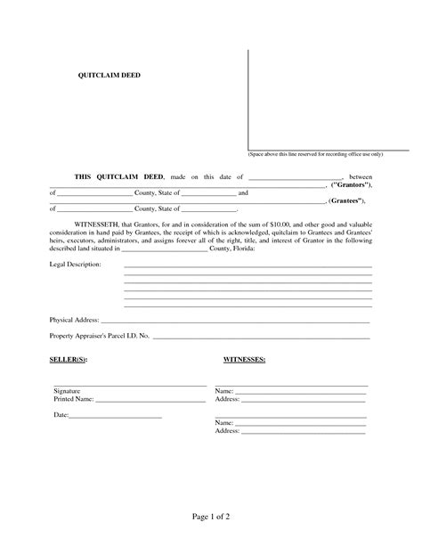 printable quit claim deed form best photos of fl quit claim deed blank quit claim deed