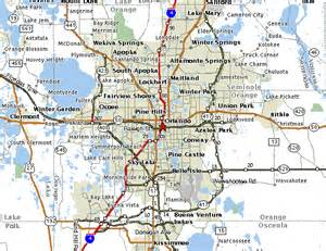 Map Orlando maps of orlando
