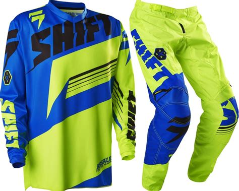 motocross youth gear new shift youth mx gear assault yellow blue motocross kids
