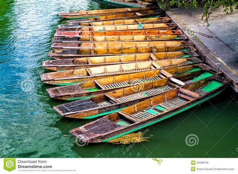 cambridge punt boat plans punting boats docked cambridge england royalty free stock