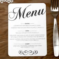 vintage wedding menu doodlelove