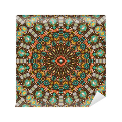 geometric pattern laminate ornamental round aztec geometric pattern wall mural