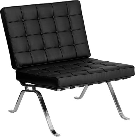 Black Lounge Chair by Tufted Black Leather Vintage Inspired Lounge Coffeehouse