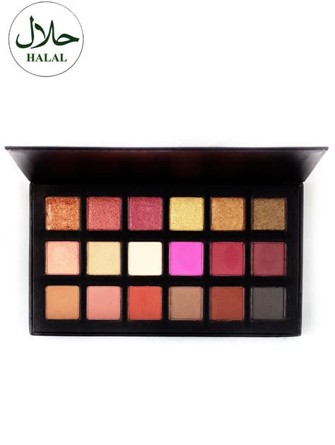 Eyeshadow Halal halal 18 colours shimmer matte eyeshadow palette in colorful sammydress