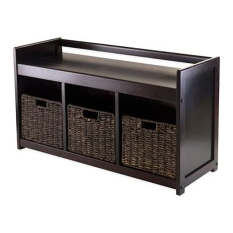 buy storage bench buy entryway storage benches from bed bath beyond