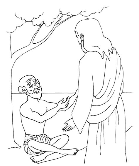 Coloring Page Jesus Healing Sick | jesus healing sick coloring pages coloring pages for free
