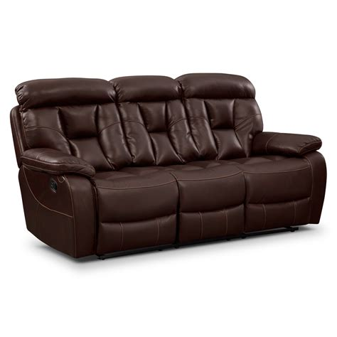 furnisher sofa dakota reclining sofa java american signature furniture