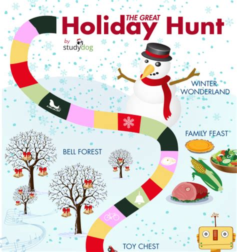 free printable winter board games great holiday hunt grandma ideas