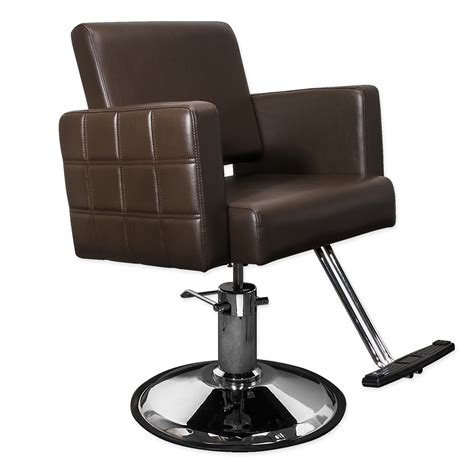Cosmetology Chair by Stylist Chair Quilted Brown Hairdresser Chair