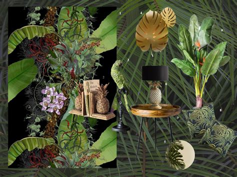 deeply tropical styleco moodboard  tropical style