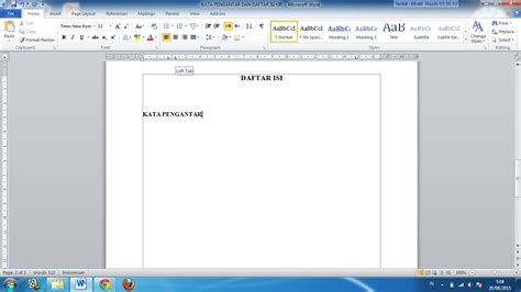 cara membuat titik pada daftar isi makalah cara membuat titik titik daftar isi makalah dan karya