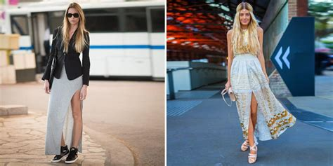 how to wear maxi skirts and dresses