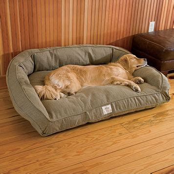 dog couch bed dog couch bed toughchew 174 deep dish dog bed orvis