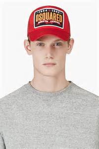 Dsquared2 red logo patch baseball cap