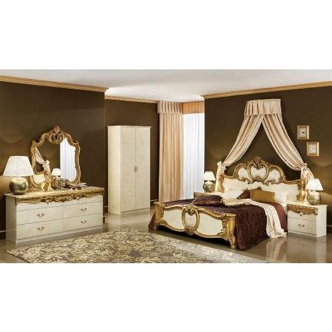 1000 images about ivory bedroom furniture on pinterest barocco classic bedroom set in ivory and gold king size