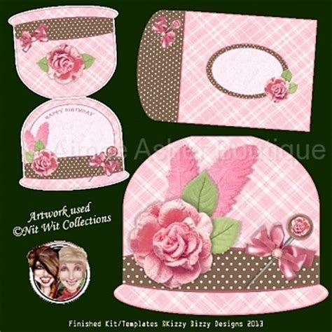 card hats templates cloche hats products and printable cards on