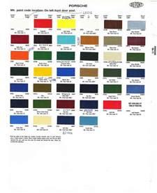 Porsche 356 Paint Codes Porsche Paint Colors Car Interior Design