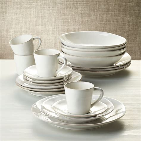 marin white  piece dinnerware set reviews crate