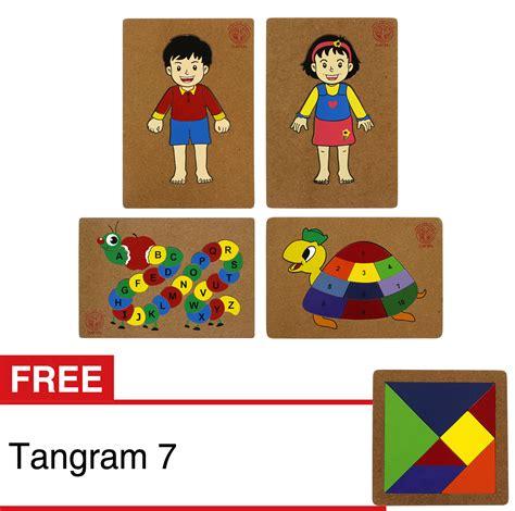 Puzzle Abjad Gambar jual puzzle anggota tubuh angka dan abjad 4 pcs dapin