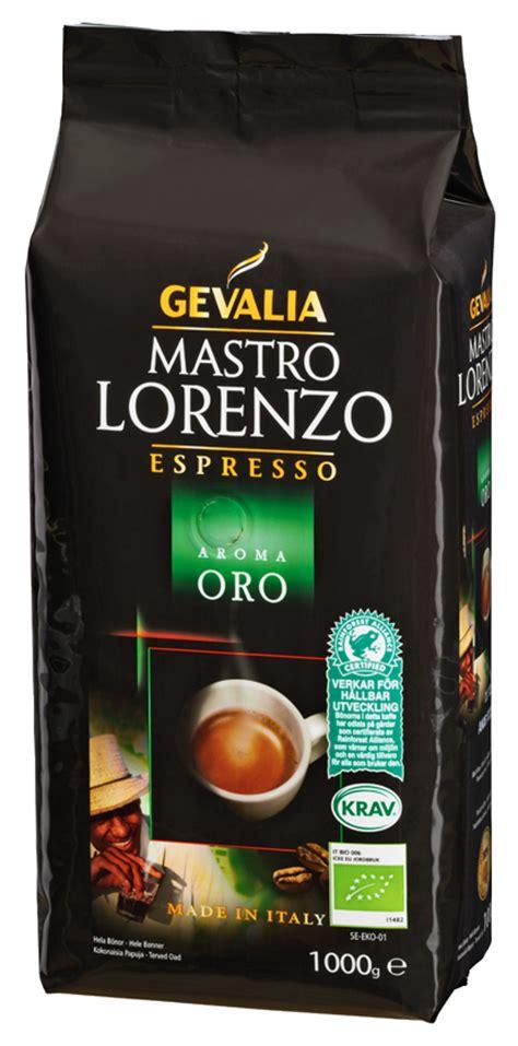 Mastro Lorenzo Aroma Oro kaffebönor 1000g   DeliCo   Kaffe på nätet