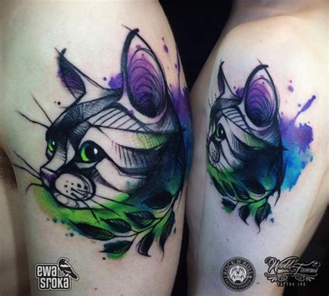 tattoo cat color 35 unbelievable cat tattoos that are guaranteed to leave