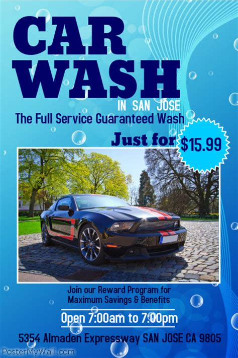 car wash poster template free car wash poster template postermywall