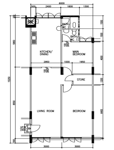 3 room floor plan original floor plan for 3 room corner unit hdb floor