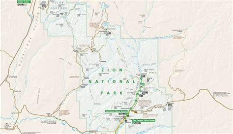 printable map of zion national park official zion national park map pdf