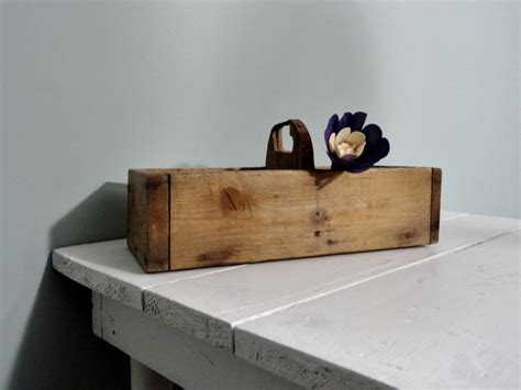 Rustic Desk Organizer Vintage Wood Box Industrial Storage Rustic Desktop Organizer Desk Caddy Rustic