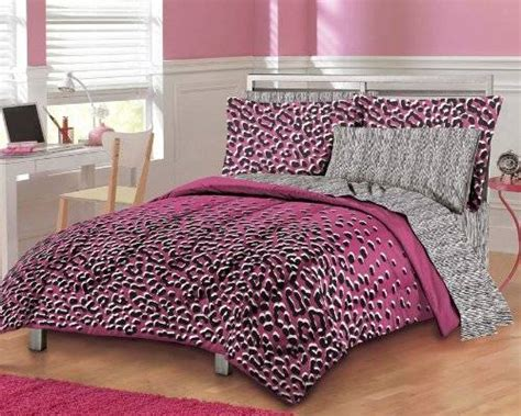 pink cheetah print bedroom set home decor interior