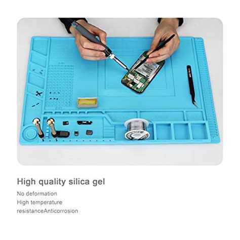 Blue Heat Insulation Silicone Mat Pad Repair Kit For Mobile Phone Comp magnetic heat insulation silicone mat repair kit