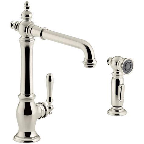 Kitchen Faucet Spout Kohler Artifacts Single Handle Standard Kitchen Faucet With Spout Design And Side