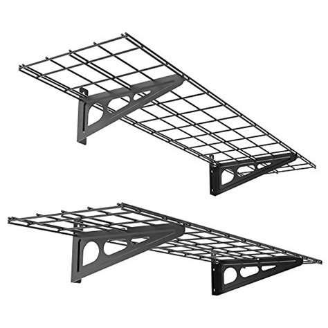 Wall Shelf Garage Storage Rack Floating Shelves Steel Sturdy Floating Shelves