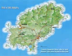 Your holiday villa for rent in ibiza is at the circle on top of the