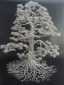 dense wire tree sculptures by clive maddison colossal