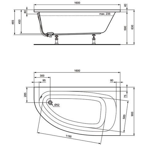 badewanne standard ideal standard hotline neu raumspar badewanne k275701