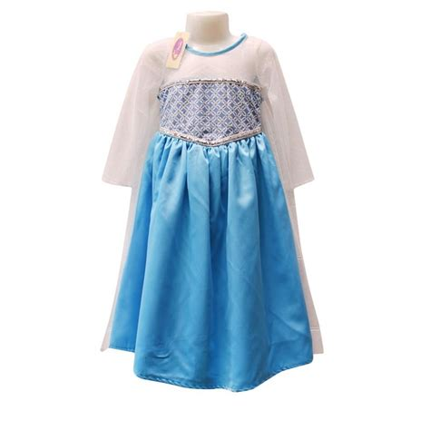 Dress Anak Frozen Biru jual rumah voila batik jubah elsa frozen biru muda dress