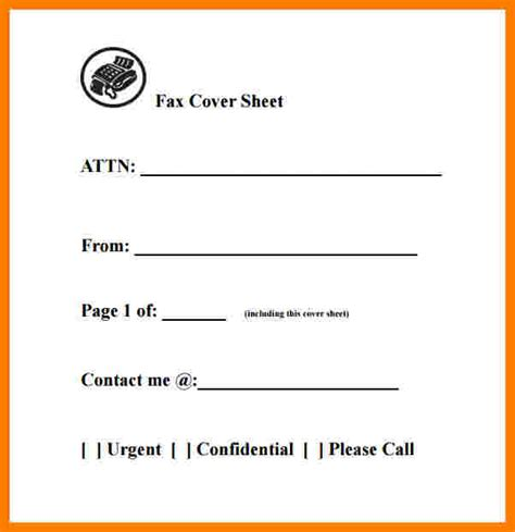 8 Generic Fax Cover Sheet Word Document Ledger Review Generic Fax Template