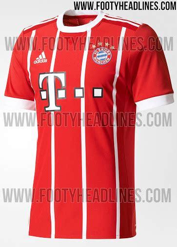Jersey Bayern Munchen Home Official 17 18 Grade Ori bayern munich 17 18 home kit released footy headlines