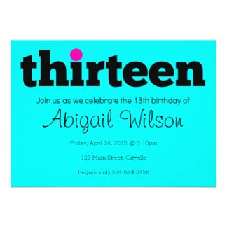 13 birthday invitation templates thirteen 13th birthday invitation