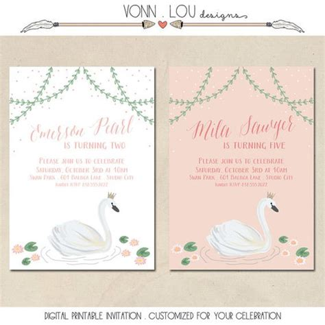Swan Themed Wedding Invitations by Swan Invitation Swan Theme Birthday Baby
