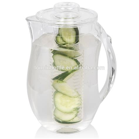 Infuse Water Jug plastic water jug plastic water pitcher acrylic water