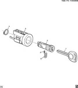 Parts Of Ignition Hummer H3 Key Lock Cylinders Ignition