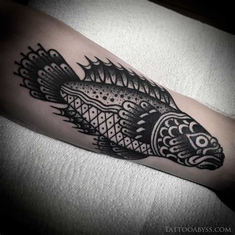 black fish tattoo traditional fish www pixshark images
