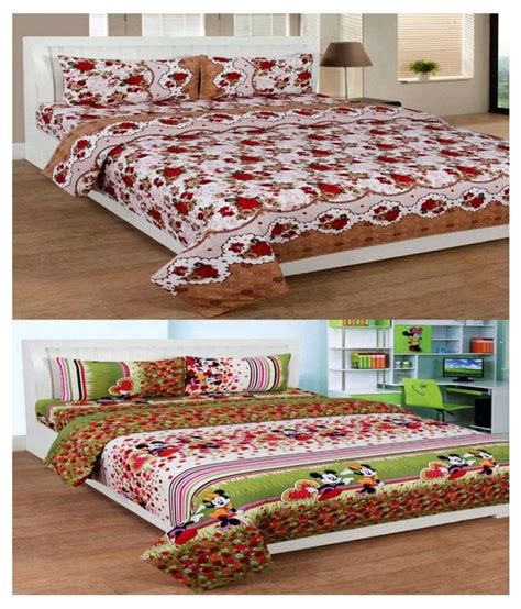 buying bed sheets indianonlinemall double poly cotton floral bed sheet buy