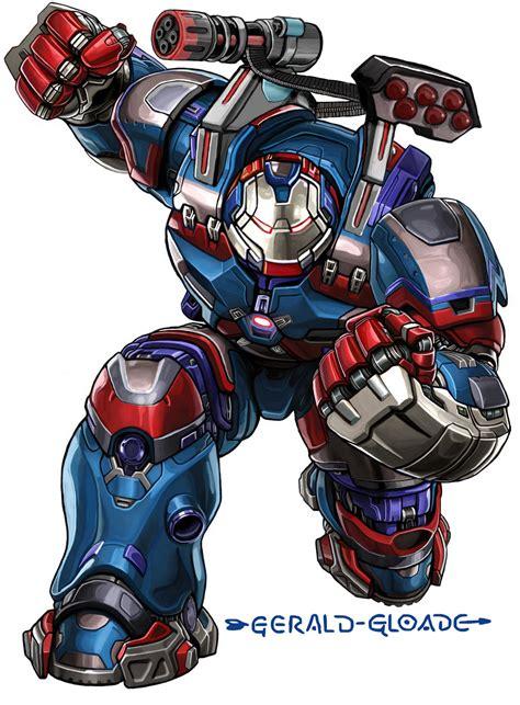 Ironman Patriot Marvel ironpatriothulkbuster by gloade on deviantart