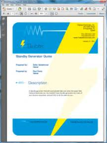 sample business proposal software electrical contractor