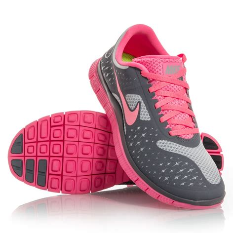 Nike Free 37 37 nike free 4 0 v2 womens running shoes grey pink slashsport