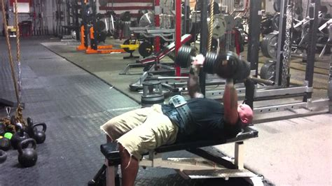 jim wendler bench press jim wendler db bench press 115x17 youtube