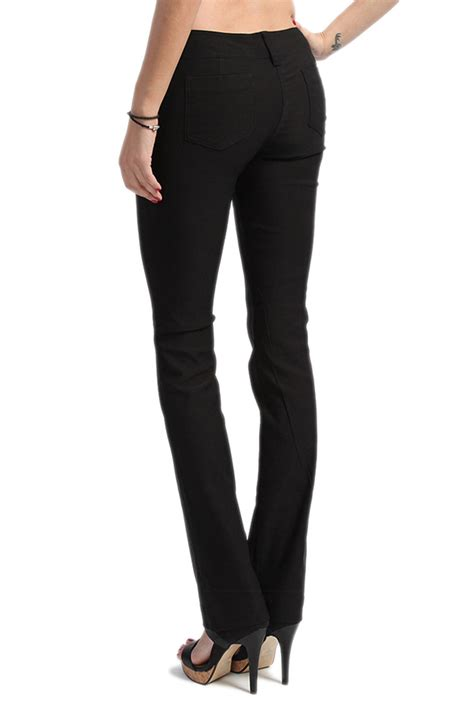 bootcut jeans for work themogan plus stretch low rise casual to work trousers